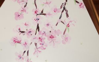 Trauerbegleitung - Kirschblütensarg - Malen zum Abschied © Foto: Katharina Hansen-Gluschitz