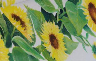 Sonnenblumensarg - Malen zum Abschied © Foto und Design: Katharina Hansen-Gluschitz