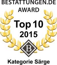 Bestattungen Award 2015 - Kategorie Särge